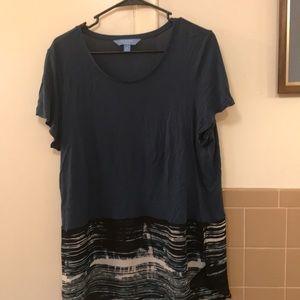 Simply Vera short sleeve Teal XL Blouse
